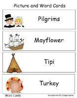 thanksgiving picture and word cards great for word walls flash