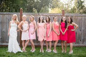 the mismatched bridesmaids dresses trend