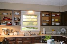 remove kitchen cabinet doors for open shelving kitchen makeover update i ve opened up a can of worms