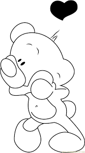 pimboli bear in love coloring page free pimboli coloring pages