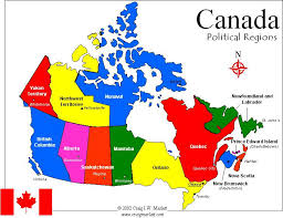 canadian map capitals map of provinces and capitals of canada major tourist