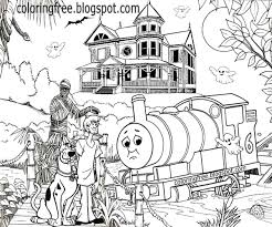 easy haunted house coloring pages coloring pages