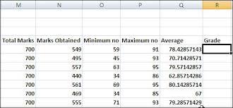 make a result sheet in excel 2007