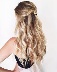 curly half updo hairstyles half up down hairstyles for long hair