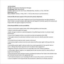 Resume Of Business Development Executive Business Manager Job Description Business Development Manager Job