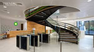 modern office fit out for bp with central spiral staircase youtube