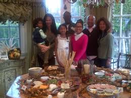 family fab the simmons hounsou families blend thanksgiving in