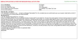 application letter of marketing manager