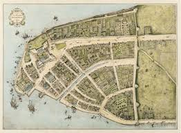 Map Of Amsterdam Map Of 1660 The Castello Plan Of New Amsterdam Old Maps Of Paris