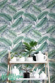 removable wallpaper uk seamless tropical jungle palm leaves pattern removable wallpaper
