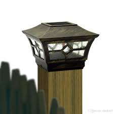 Outdoor Solar Lights For Fence 2018 Cheekon Square Fences Post Caps 4 X 4 Solar Light Outdoor