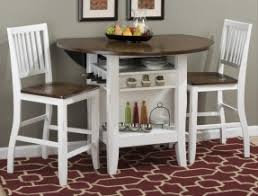 Round Counter Height Table With Leaf Foter - Counter height dining table drop leaf