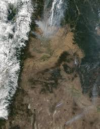 Satellite Map Of Washington State by Nasa Visible Earth Wild Fires In Washington State And British