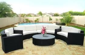 Faux Wicker Patio Sets Circular Wicker Outdoor Furniture Resin Wicker Round Patio Dining
