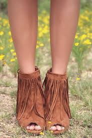 ugg sale wedges desert fringe rust zip up peep toe wedge ankle boot with fringe