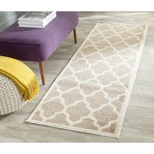 Indoor Outdoor Rug Runners Amazon Com Safavieh Amherst Collection Amt420s Wheat And Beige
