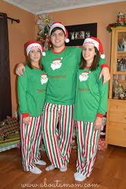 we got matching family pajamas this year about a