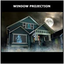 christmas window projection dvd halloween digital decorations kit atmosfx ghostly apparitions dvd