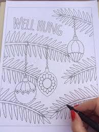 christmas coloring book belongs santa u0027s naughty list ny