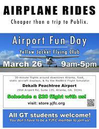 Atlanta Airport Food Map airport fun day yellow jacket flying club