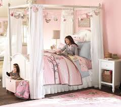 how to decorate canopy bed bedroom fair picture of pink girl butterfly bedroom decoration
