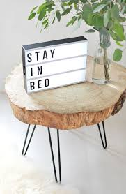 diy tree slice hairpin table hairpin legs accent pieces and legs