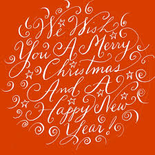 we wish you a merry calligraphy handwritten