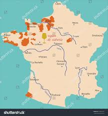 France Regions Map by Map Region Cideries France Stock Vector 203061361 Shutterstock