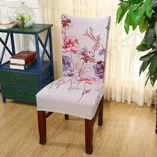 Dining Chair Protective Covers Online Shop 1pc Spandex Elastic Flower Printing Chair Protective