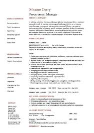 Manager Resume Objective Procurement Resume Objective Best Resume Example