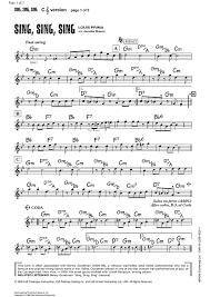 sing sing sing with a swing louis prima sing sing sing sheet for piano and more