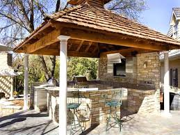 Kitchen Patio Ideas by Inexpensive Patio Ideas Rustic Outdoor Kitchen With Gazebo