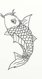 black and white koi fish drawings