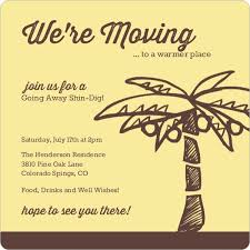 going away to college invitations yellow and brown palm tree going away invitation going away