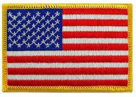 Coolest State Flags Amazon Com American Flag Embroidered Patch Gold Border Usa United