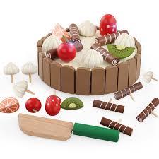 jeux de cuisine de gateaux d anniversaire chaude enfants jouets gâteau d anniversaire en bois magnétique