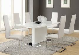 White Leather Dining Room Chairs Lovely White Leather Dining Room Chairs 37 Photos