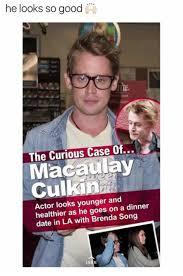 Macaulay Culkin Memes - he looks so good ht the curious case of macaulay culkin actor looks