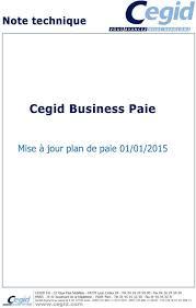 cegid si e social cegid business paie mise à jour plan de paie 01 01 2015 service d