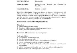 ravishing phlebotomist job resume tags phlebotomist resume