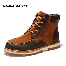 aliexpress com buy spring autumn winter men boots faux leather