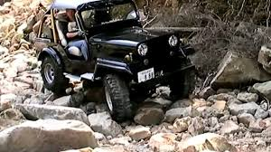 mitsubishi jeep mitsubishi jeep j53 rock crawling video dailymotion