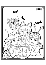 dora and friends coloring pages to download and print for free