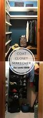 hood creek log cabin coat closet organization makeover 100
