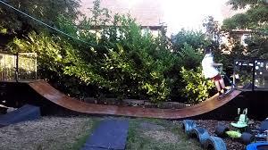 backyard halfpipe gogo papa com