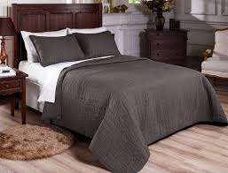 Grey Quilted Comforter Bedroom Chezmoi Collection Chezmoi Collection Quilt Chezmoi