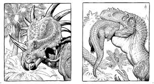 dinosaurs a coloring book by william stout insight editions