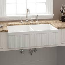 Sinks Awesome  Apron Sink Apronsinkfireclayfarmhouse - Fireclay apron front kitchen sink