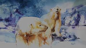 polar bear watercolour painting youtube