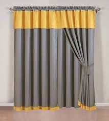 Yellow And Grey Curtain Panels Homey Ideas Grey Yellow Curtains Also Two Curtain Panels Floral